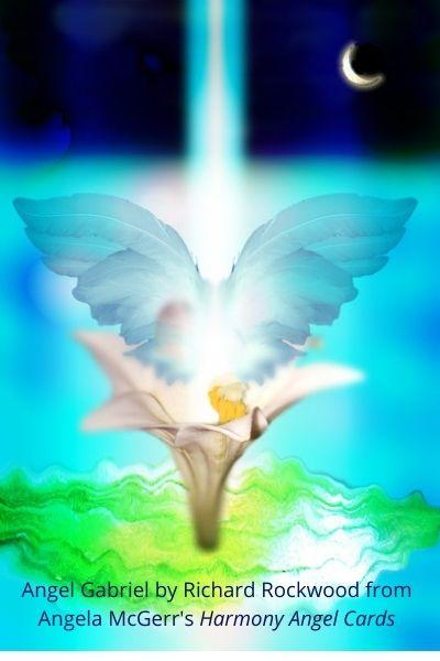 Angel Gabriel by Richard Rockwood from Angela McGerrs Harmony Angel Cards wonderful world of wellbeing
