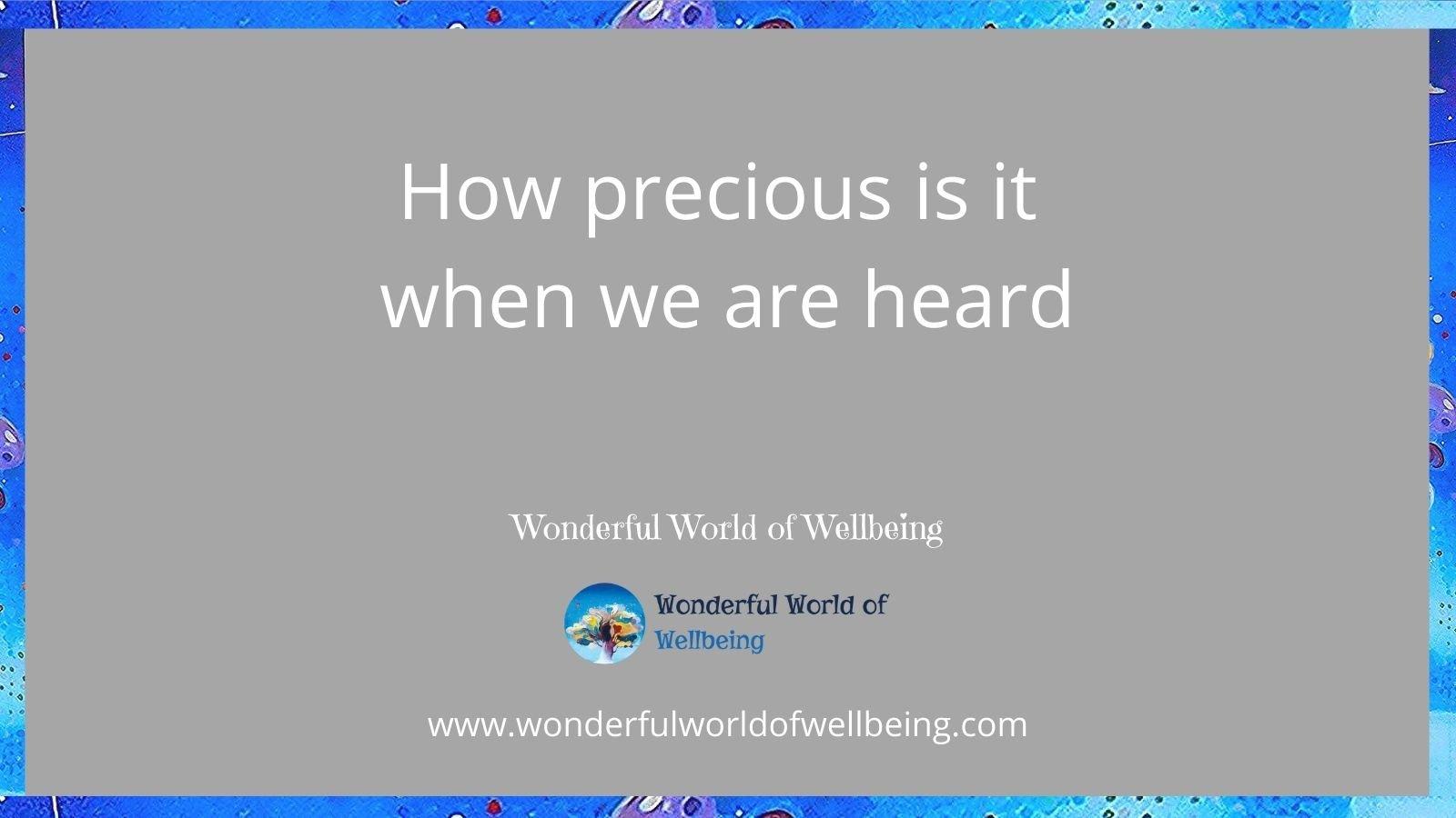 to be heard wonderful world of wellbeing jpeg
